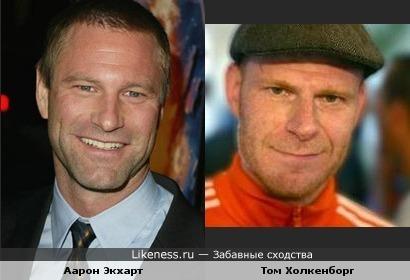 Аарон Экхарт похож на Тома Холкенборга