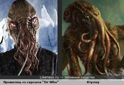 """Пришелец из сериала """"Dr Who"""" похож на Ктулху"""