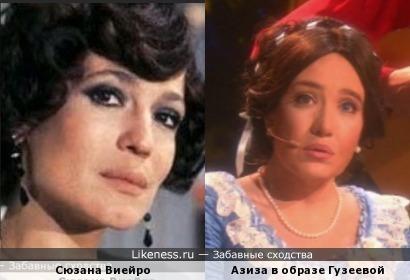 Азиза похожа на бразильскую актрису
