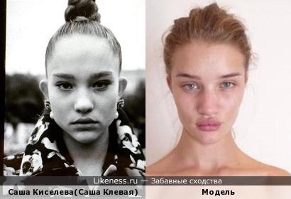 Молодая,талантливая, русская модель напомнила мировую модель