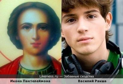 Ввиду популярности икон на сайте в последнее время - свой вариант сравненной иконы Пантелеймона и Василий Ракша:)