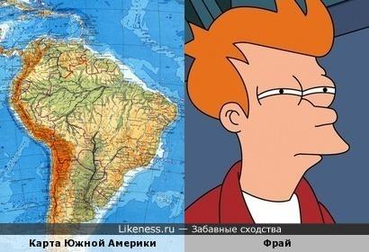 Фрай побрился налысо и превратился в… карту Южной Америки:)