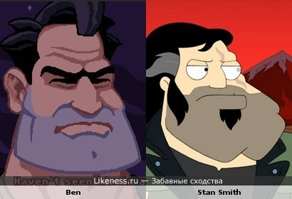 "Ben (""Full Throttle"") vs Stan Smith (""American Dad!"")"