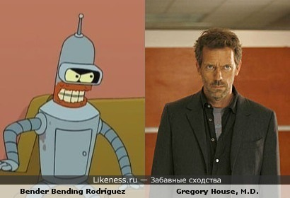 "Bender (""Futurama"") vs Gregory House (""House M.D."")"