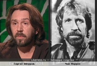 Сергей Шнуров напоминает Чака Норриса