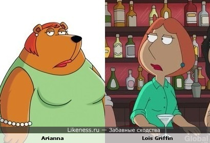 "Arianna (""The Cleveland Show"") and Lois Griffin (""Family Guy"")"
