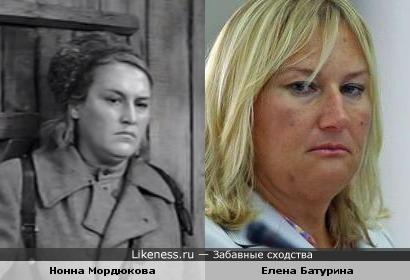 Мордюкова и Батурина