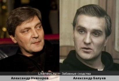 Александр Невзоров напоминает Александра Балуева