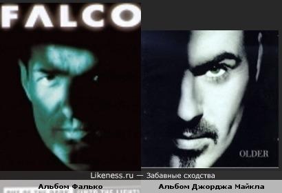 Обложки альбомов Фалько и Джорджа Майкла похожи