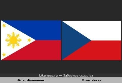 Флаг Филиппин похож на флаг Чехии