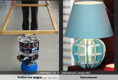Робот на шаре похож на светльник