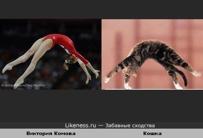 Виктория Комова и кошка