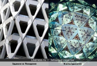 Фасад здания в Лондоне похож на рисунок в калейдоскопе