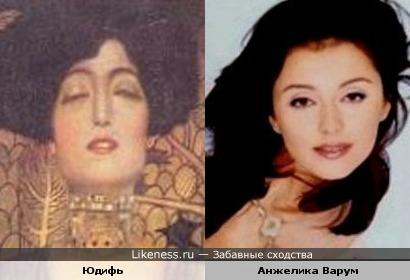 Анжелика Варум похожа на Юдифь Густава Климта