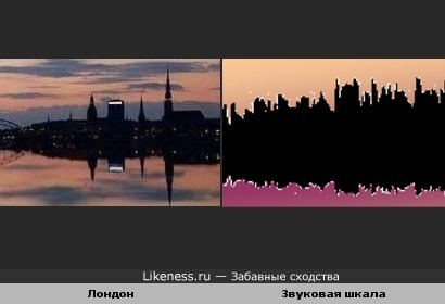 Фото ночного Лондона похоже на звуковую шкалу