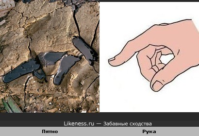 Пятно похоже на руку