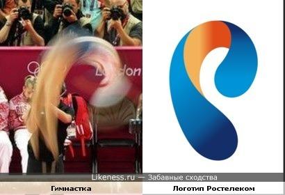 "Фото гимнастки напомнило логотип ""Ростелеком"""