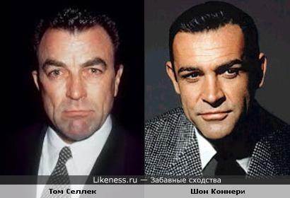 Том Селлек без усов похож на Шона Коннери