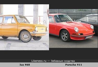 Запорожец напоминает Porsche 911