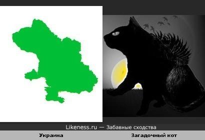 Украина похожа на загадочного кота