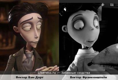 Схожесть персонажей Бёртона