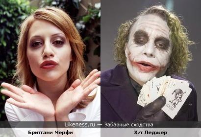 Бриттани Мёрфи была похожа на Джокера