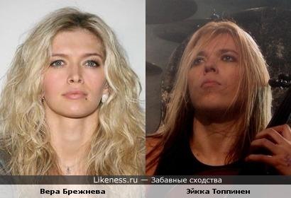 Вера Брежнева похожа на Эйкку Топпинена из Апокалиптики.