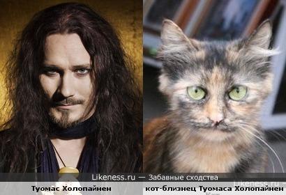 Туомас Холопайнен с котом-близнецом))