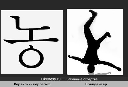 Китайский иероглиф похож на брейкдансера