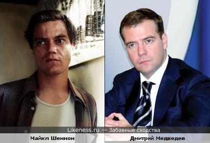 Майкл Шеннон похож на Дмитрия Медведева