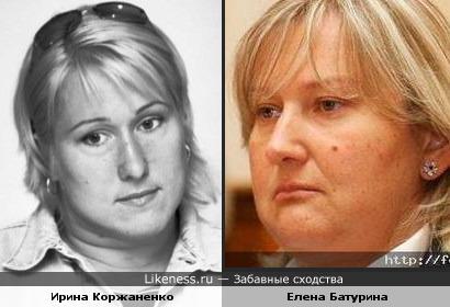 Метательница ядра Ирина Коржаненко похожа на Елену Батурину