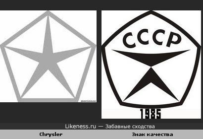Логотип Крайслер напоминает советский знак качества