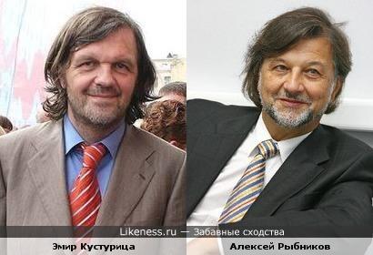 Эмир Кустурица и Алексей Рыбников