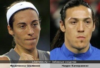 Итальянские теннисистка и футболист