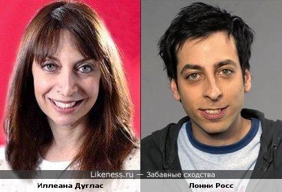 Иллеана Дуглас и Лонни Росс