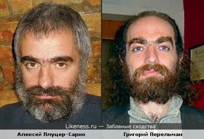 Алексей Плуцер-Сарно и Григорий Перельман