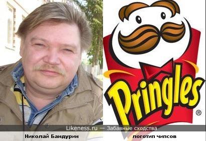 Николай Бандурин и персонаж логотипа