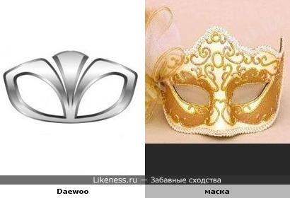 Старый логотип и карнавальная маска