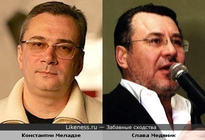 Константин Меладзе и Слава Медяник