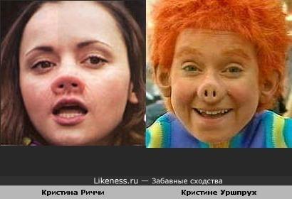 """Персонажи фильмов """"Пенелопа"""" и """"Рыжий пятачок"""""""