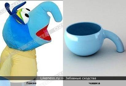 """Персонаж """"Маппет шоу"""" и дизайнерская чашка"""