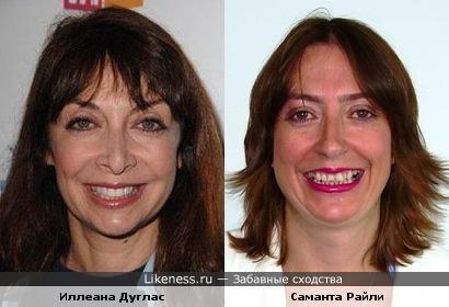 Иллеана Дуглас и Саманта Райли