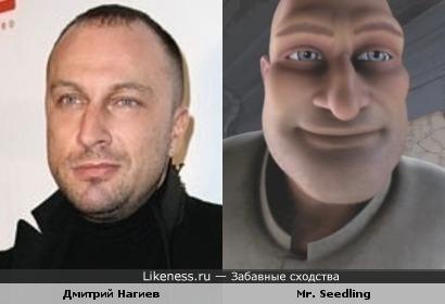 Дмитрий Нагиев и персонаж мультфильма