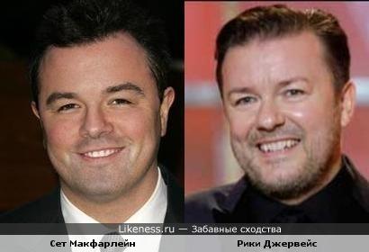 Сет Макфарлейн и Рики Джервейс