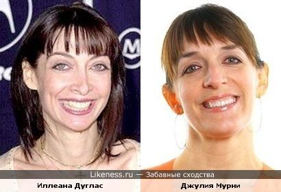 Иллеана Дуглас и Джулия Мурни
