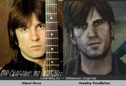 Юрий Лоза и персонаж игры