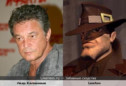 Ивар Калныньш и персонаж игры