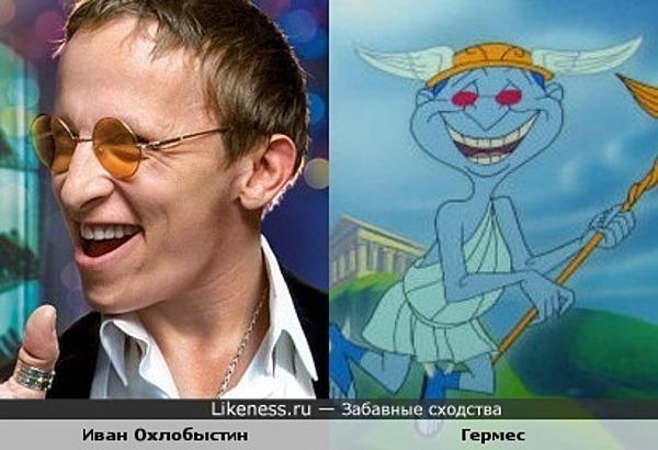 Иван Охлобыстин и мультперсонаж