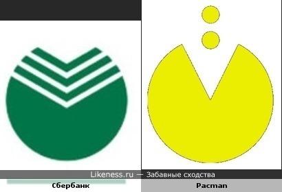 Логотип Сбербанка напоминает pacman