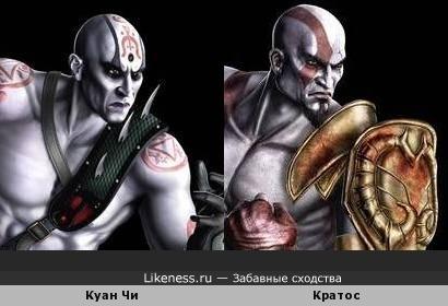 Куан Чи похож на Кратоса